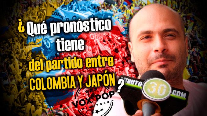 Que pronostico tiene del partido entre Colombia y Japon