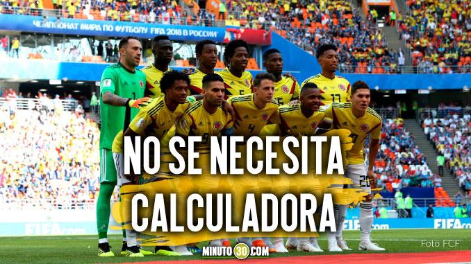 Seleccion Colombia y sus cuentas para clasificar a octavos en el Mundial