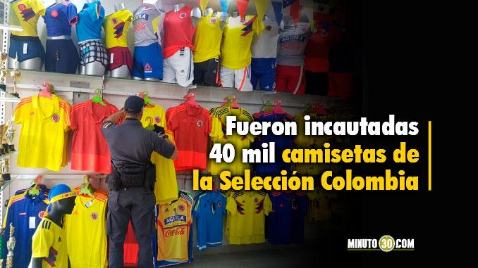 En Medellín funcionaba la principal fábrica de camisetas falsas de la Selección Colombia