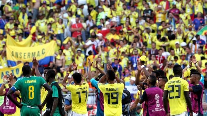 jugadores de colombia triunfo ante senegal Copiar