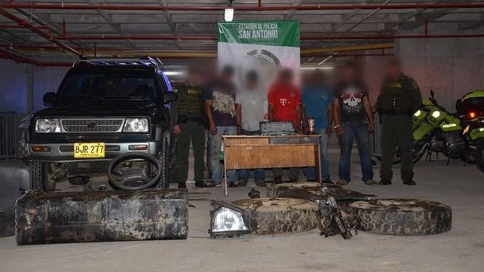 Capturados en San Antonio de Prado