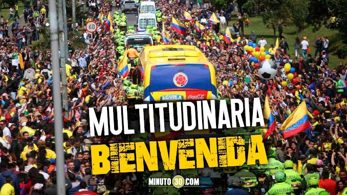 Emotivo recibimiento a la Seleccion Colombia en Bogota