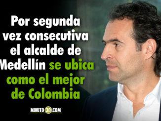 Federico Gutierrez continua como el mejor alcalde con la mayor aprobacion en el pais