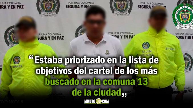 Capturado alias Jota cabecilla del grupo delincuencial El Coco de la comuna 13