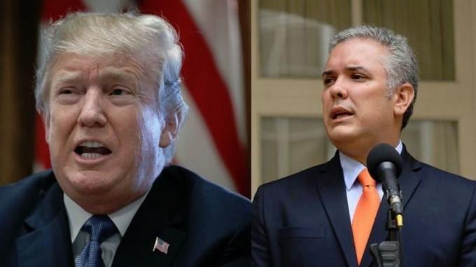 Donald Trump e Ivan Duque