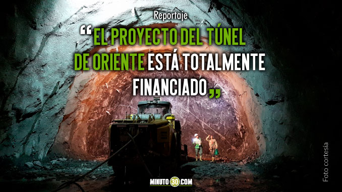 En mayo de 2019 entrar%C3%ADa en operacion el Tunel de Oriente