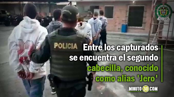 Cayeron cinco presuntos miembros de la banda 'San Francisco', que delinque en Itagüí