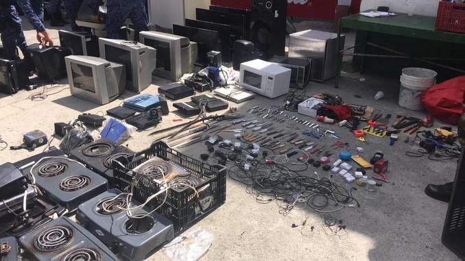 Fiscalía allanó cárcel en Rionegro e incautó cientos de elementos prohibidos por el sistema penitenciario