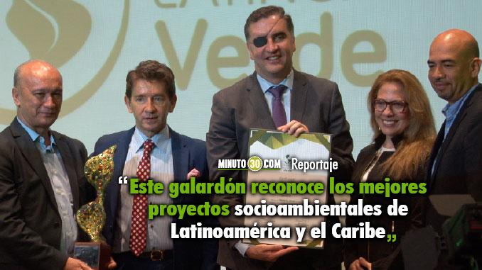 El IDEA recibio el Premio Latinoamerica Verde en la categoria Finanzas Sostenibles
