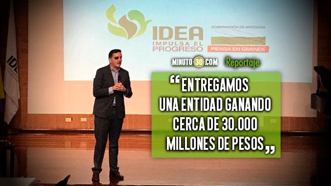 Gestion de Mauricio Tobon en el IDEA dejo importantes resultados para el departamento