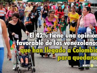Segun Gallup opinion de venezolanos que se han quedado en Colombia es desfavorable