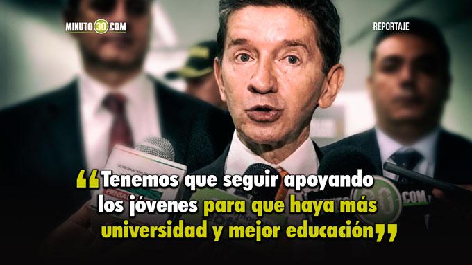 Gobernador de Antioquia apoya y defiende la Educacion Superior Publica