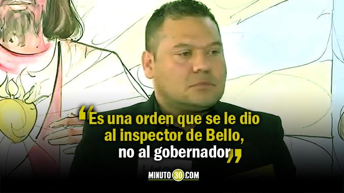 """""""Ya es un hecho superado"""": Secretario General de Antioquia sobre orden de arresto al gobernador Luis Pérez"""