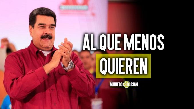 Maduro sigue siendo el personaje político con mayor desaprobación en Colombia, según Gallup Poll