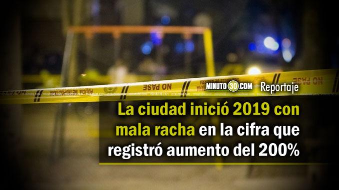 Incremento de homicidios en Medellin disminuye al 25