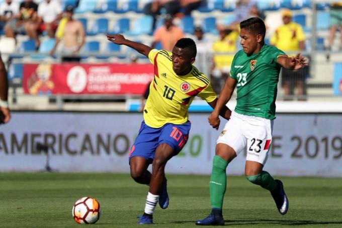 Seleccion Colombia sub 20 vs Bolivia