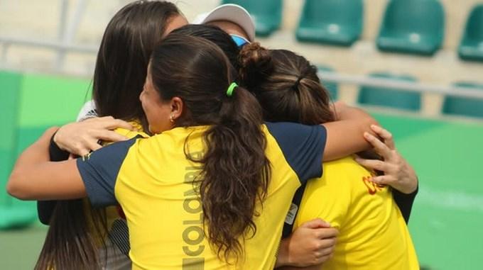 Tenistas colombianos cortesia Liga de tenis de Antioquia