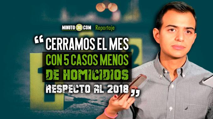 Enero termino con reduccion de homicidios en Medellin