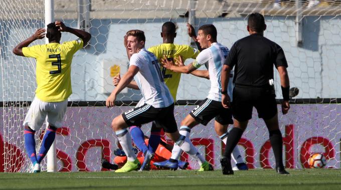 Gol de Argentina contra Colombia en el sudamericano Sub 20