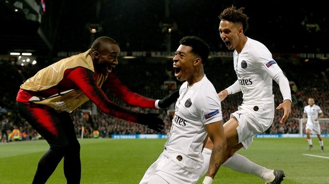 PSG gol contra Manchester United