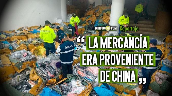 La ultima incautacion de textiles de contrabando ha sido la mas importante realizada en el departamento