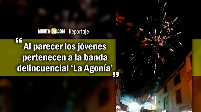 8 comparendos para presuntos bandidos que celebraban con polvora y disparos en la Comuna 13