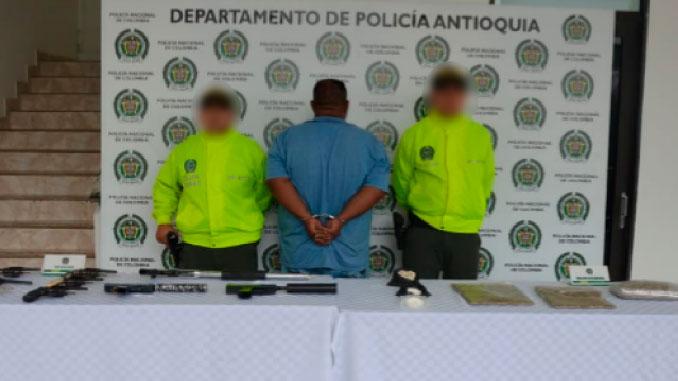 Alias El Oso capturado por la Policia de Antioquia