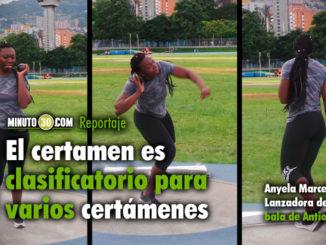 Anyela Marcela Rivas una de las atletas que representara a Antioquia en el Gran Prix de Atletismo