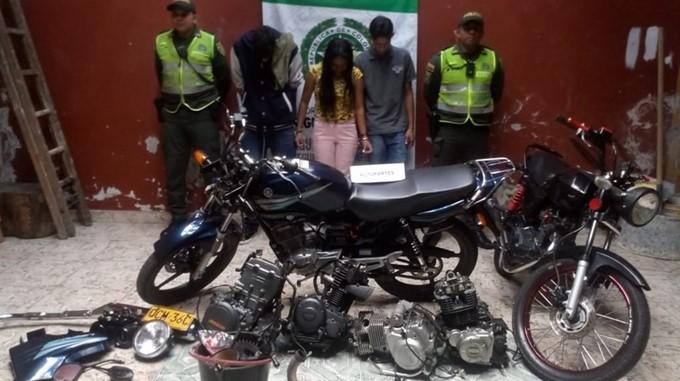 Capturados por hurto de moto en Envigado