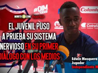 El juvenil del DIM Edwin Mosquera dejo claro que su talento es innato