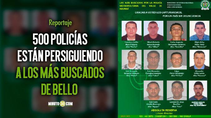 Policia ofrece hasta 50 millones por informacion que de con la captura de cabecillas en Bello