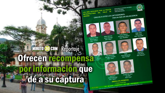 Policia revelo cartel de los mas buscados de Bello