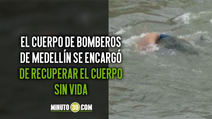 Cuerpo sin vida encontrado en el rio Medellin