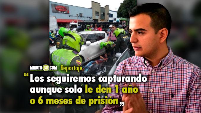 En Medellin no se cansan de capturar a delincuentes reincidentes como alias Traba