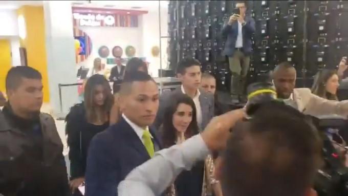 James llego a Colombia para disputar la Copa America