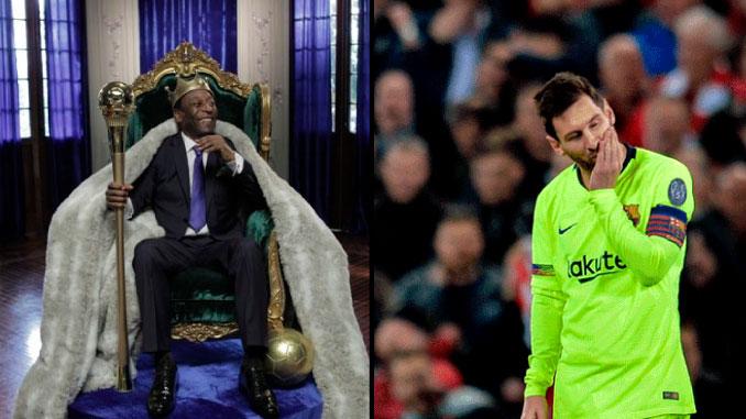 Messi comparado con Pele tras eliminacion de Barcelona