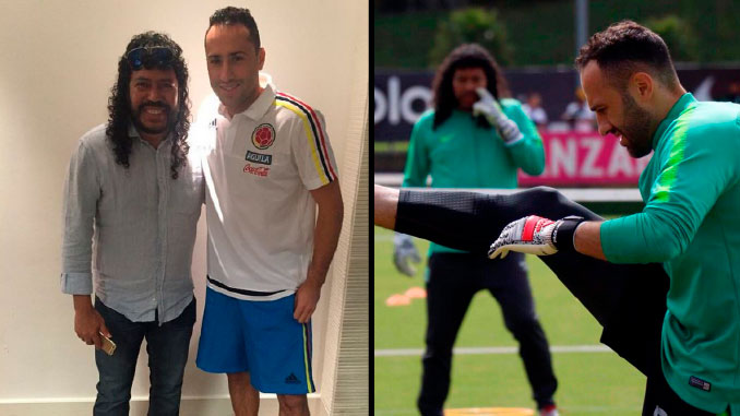 Rene Higuita y David Ospina
