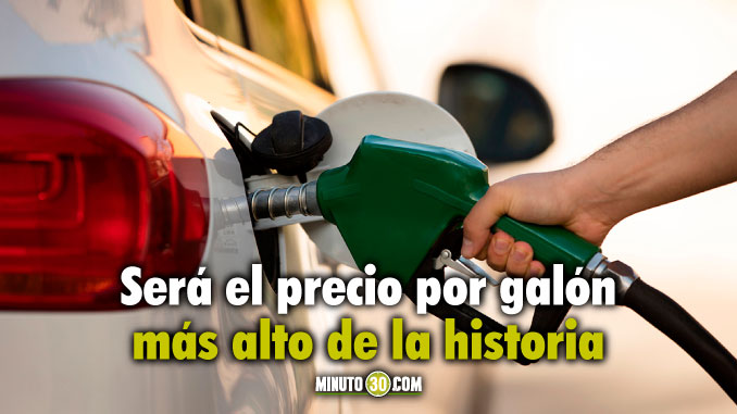 Aumenta precio de la gasolina en julio Colombia