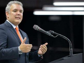 El presidente de Colombia Ivan Duque