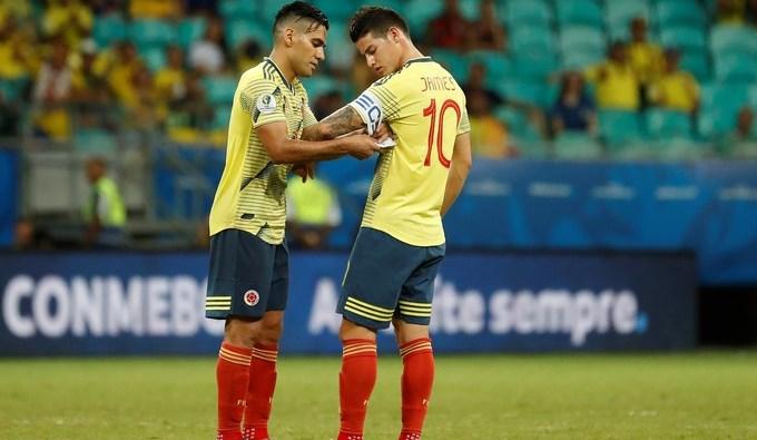 JAMES RODRIGUEZ Y RADAMEL FALCAO SELECCION COLOMBIA
