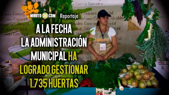 Resultados de las Huertas como estrategia de seguridad alimentaria fueron evaluados en el Concejo