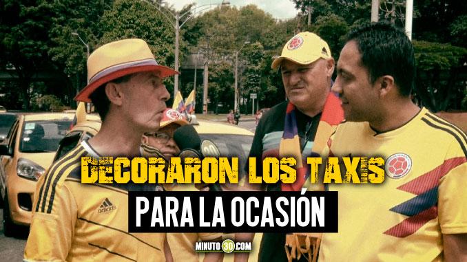 Taxistas de Medellin confian plenamente en triunfo de Colombia sobre Argentina