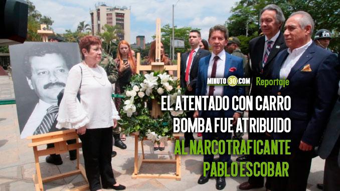 Antioquia rindio homenaje al ex Gobernador Antonio Roldan asesinado hace 30 anos