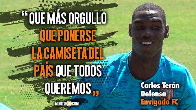 Carlos Teran motivado por su paso por la Sub 20 espera ser protagonista con Envigado