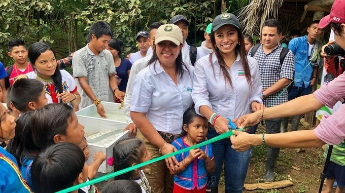 Comunidad indigena en Chigorodo estrena acueducto