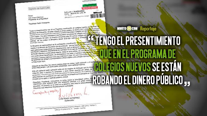 Gobernacion reclama a Gobierno Nacional suspension en la construccion de colegios en Antioquia