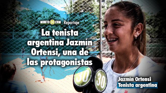 Representantes de diferentes paises disfrutan de la Copa Ciudad de Medellin de Tenis de Campo