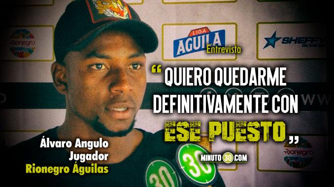 Alvaro Angulo feliz de representar a Rionegro en la Seleccion Colombia Sub 23