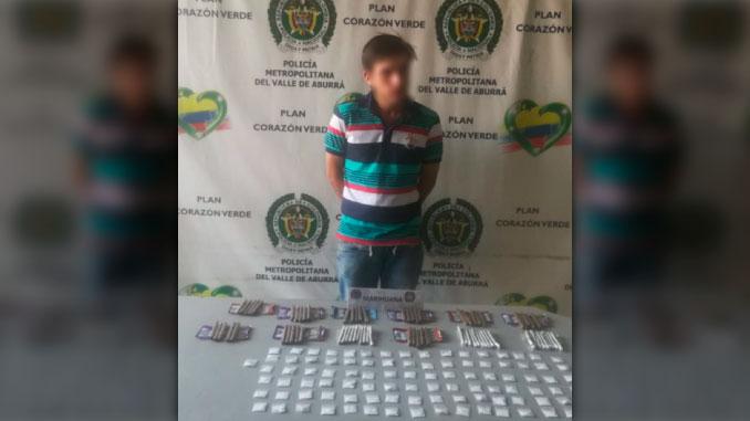 Capturado con droga en Itagui