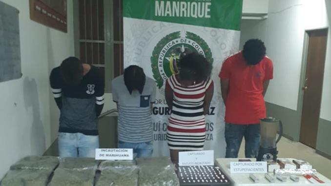 Capturados con droga en Manrique Medellin